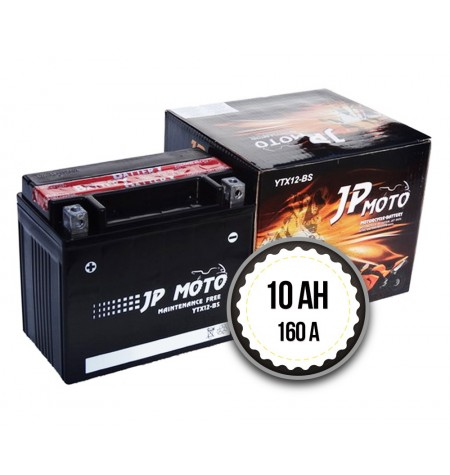 JP MOTO YTX12-BS 10Ah 160A 12V L+